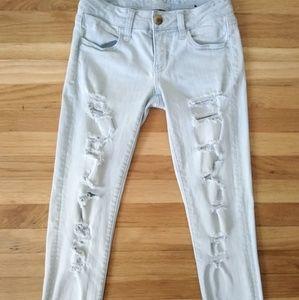 American Eagle Super Distressed Jeans